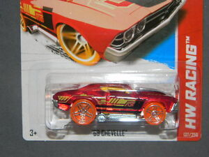 HW Hot Wheels 2013 HW Racing 137 250 '69 Chevelle Hotwheels Red | eBay