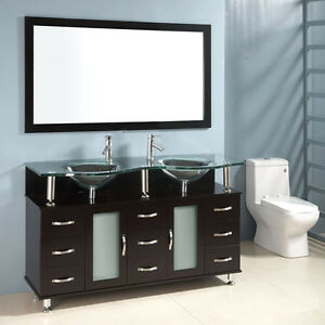 White weave effect sink bathroom cabinetroman home for Double mirror effect