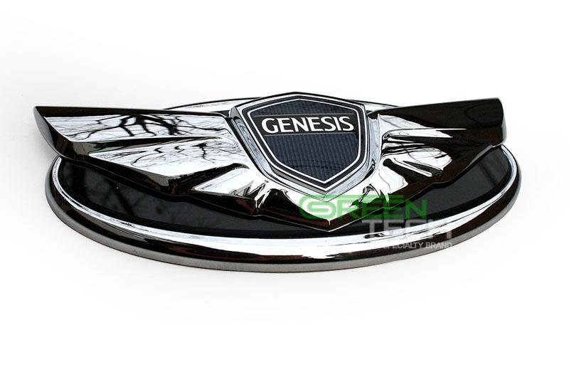 Hyundai Genesis Coupe Chrome Emblem Grill Trunk Badge Genuine Parts 2013