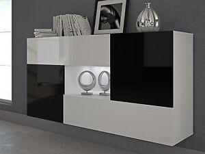 h nge kommode sideboard anrichte schrank alfa hochglanz. Black Bedroom Furniture Sets. Home Design Ideas