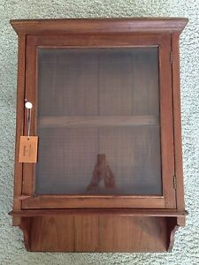 h ngeschrank vitrine glas holz teak indien einzelst ck antik um ca 1950 ebay. Black Bedroom Furniture Sets. Home Design Ideas