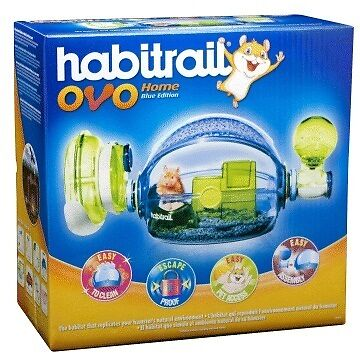 Hagen Habitrail Ovo Home Blue Edition Hamster Small Animal Cage in Pet Supplies, Small Animal Supplies | eBay