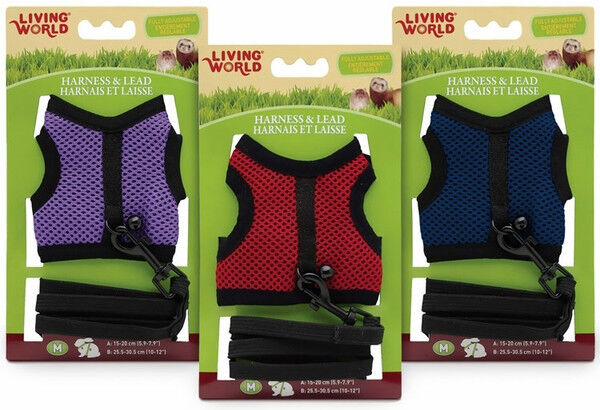 Details about Hagen Living World Mesh Harness & Lead for Small Animal  Travel Leash Walk