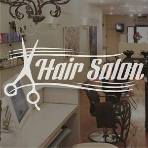 Hair salon hairdressers window sign stickers graphics for Stickers salon