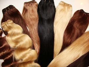 hair weft tresse extensions echthaar haarverl ngerung 40cm 50cm 60cm 80cm remy ebay. Black Bedroom Furniture Sets. Home Design Ideas