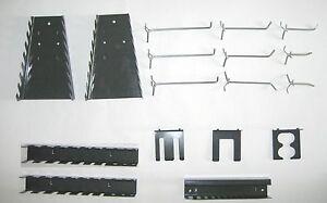 haken werkzeughalter wand metall set f r lochwand grau werkstatt garage neu ovp ebay. Black Bedroom Furniture Sets. Home Design Ideas