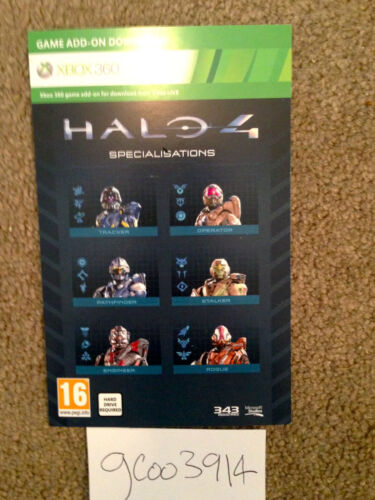 Halo 4 DLC -- Six Specialisations, Oceanic Armor and Arctic Weapon Skin Xbox 360 in Video Games & Consoles, Other | eBay
