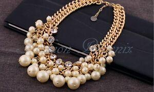 Halskette-Collier-Statement-gold-Strass-Perlenkette-Perle-Braut-Hochzeit-Luxus