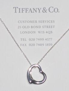 Halskette-Tiffany-Co-Silber-Elsa-Peretti-Kleines-Offenes-Herz-16mm