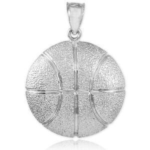 Hammered Solid Gold Basketball Charm Sports Pendant Made ...