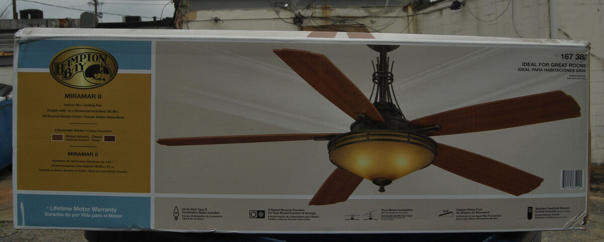 "Hampton Bay 60"" Ceiling Fan"