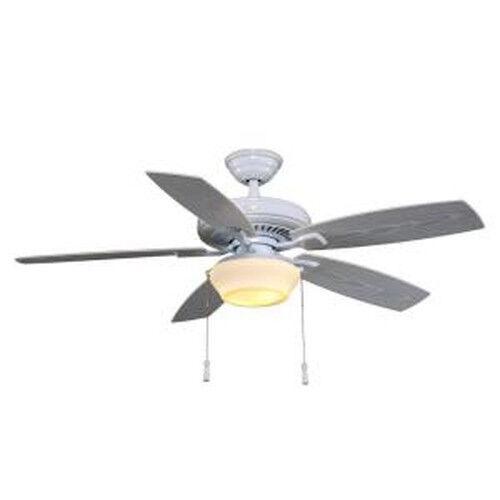 Hampton Bay Gazebo II 52 in Indoor Outdoor White Ceiling Fan 114024