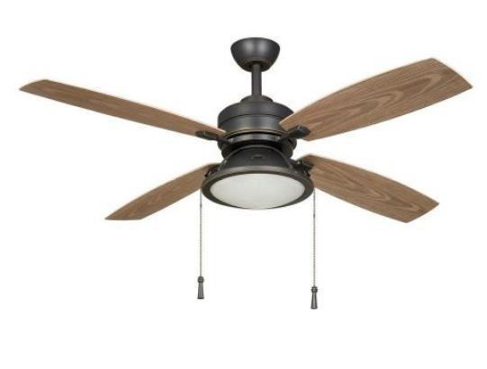 Hampton Bay Kodiak 52 inch Ceiling Fan with Light Kit Dark Bronze Finish