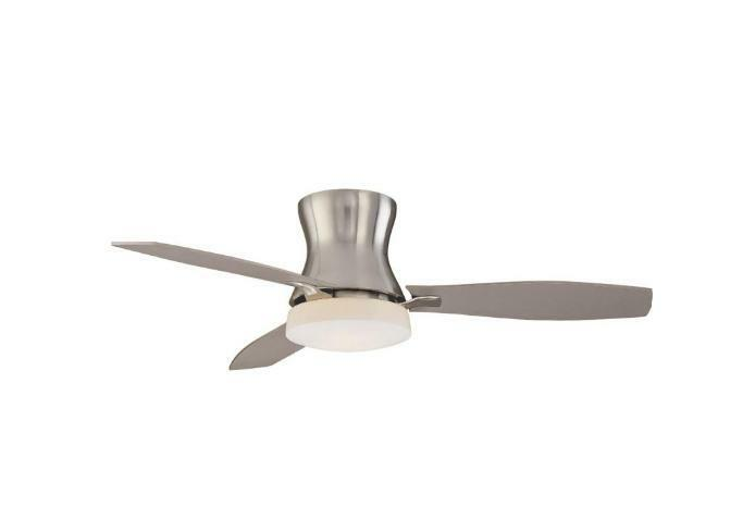 Hampton Bay Marta 52 inch Ceiling Fan with Light Kit Remote Control Nickel