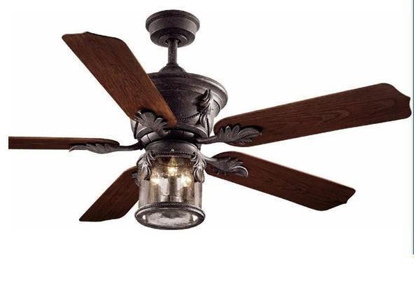 Hampton Bay Milton Indoor Outdoor 52 inch Ceiling Fan with Light Kit Bronze