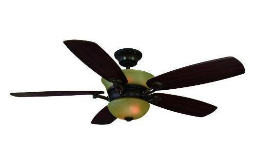Hampton Bay Minorca 52 inch Ceiling Fan with Light Kit Remote Control Mahogany
