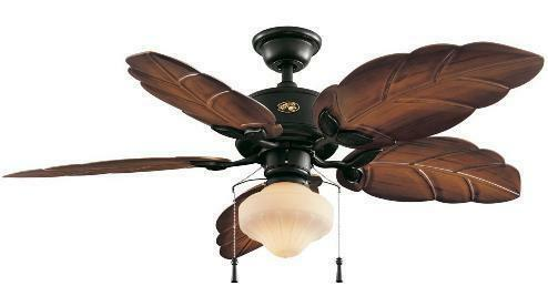 Hampton Bay Nassau Indoor Outdoor 52 inch Tropical Ceiling Fan with Light Kit