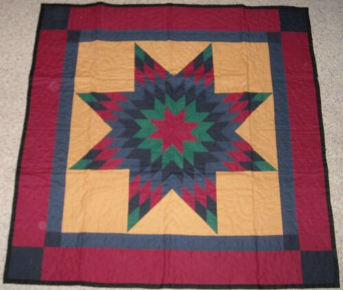 Hand Stitched Lonestar Amish Wall Quilt in Collectibles, Linens & Textiles (1930-Now), Quilts | eBay