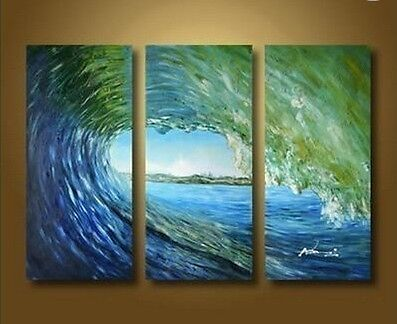 Hand painting Large Ocean Seascape Oil Painting On Canvas Art-Waves(No Frame) in Art, Art from Dealers & Resellers, Paintings | eBay