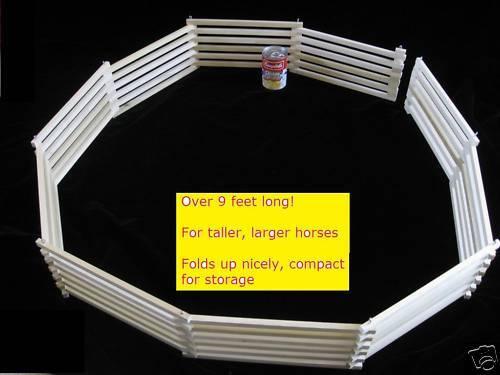 FEET Long TALLER Wood Farm Toy Animal Wooden Horse Fence Corral