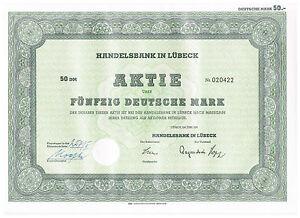 Handelsbank-Luebeck-AG-Inhaber-Aktie-50-DM-von-1967