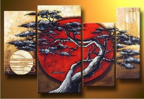 Handmade Beautiful MODERN ABSTRACT HUGE WALL ART OIL PAINTING ON CANVAS 4PCS in Art, Wholesale Lots, Paintings | eBay