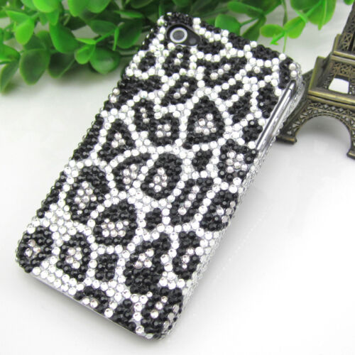 Handmade Bing Leopard Black crystal Finished Case cover for iPhone 4 4s 4g 336AS in Cell Phones & Accessories, Cell Phone Accessories, Cases, Covers & Skins | eBay