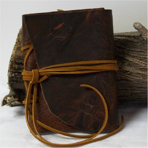 Handmade Domestic Buffalo Leather Journal, Travel, Hunting, Hiking 6.25 X 4.75 in Books, Accessories, Blank Diaries & Journals | eBay