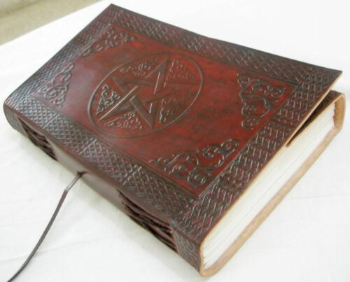 Handmade Leather Book of Shadows blank journal Diary Engraved Writing Notebook in Books, Accessories, Blank Diaries & Journals | eBay