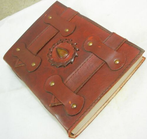 Handmade Leather Bound Journal Writing Notebook Blank Vintage Diary Sketchbook in Books, Accessories, Blank Diaries & Journals | eBay