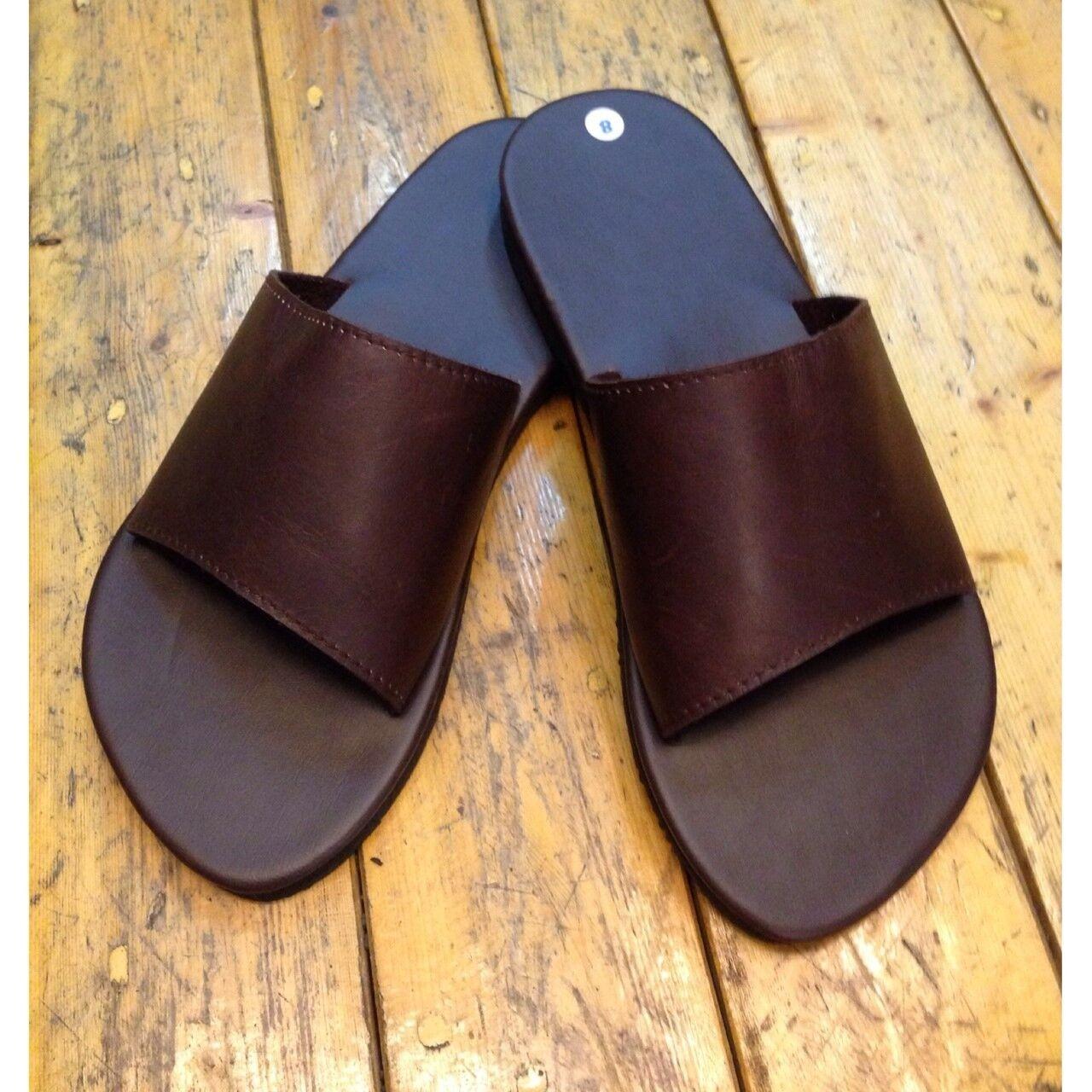 Vtg 70s nos mens 12 leather hippie sandals w tire tread soles |Hippie Mens Leather Sandals