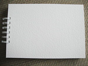 Handmade Plain White Hammer Embossed Guest Book Decorate Yourself Wedding