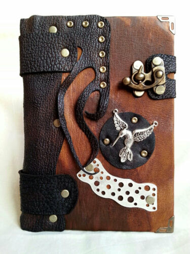 Handmade Steampunk Leather Journal Notebook With Blank Pages in Books, Accessories, Blank Diaries & Journals | eBay