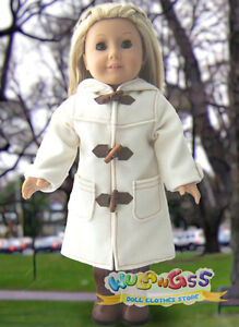 Handmade-White-Wool-Duffel-Coat-fits-18-American-Girl-doll