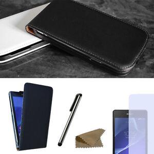 Handy-Tasche-fuer-Sony-Xperia-Flip-Case-Schutz-Huelle-Cover-Etui-Schale