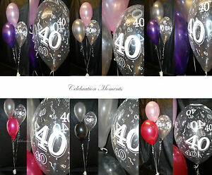 happy 40th birthday party helium balloon decoration diy clusters kit