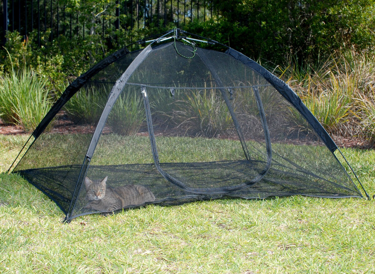 Backyard Enclosures For Dogs : Up Mesh Tent Outdoor Cat Pet Small Animal Enclosure abg 10672