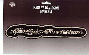 harley davidson aufn her modell beige schrift gr e. Black Bedroom Furniture Sets. Home Design Ideas