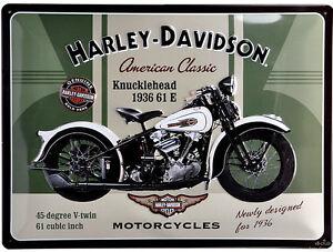 harley davidson knucklehead bike motorrad bild deko. Black Bedroom Furniture Sets. Home Design Ideas