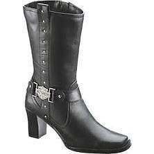 Harley Davidson Lindsey Womens Black Leather Dress Boots D85507