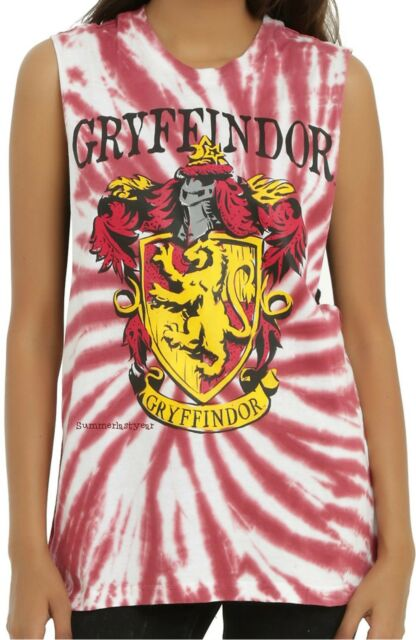 Harry Potter HUFFLEPUFF Tie Dye Muscle Tank Top ~Warner Brothers~ Free Ship