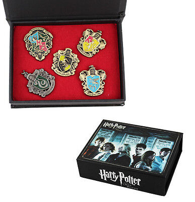 Harry Potter Hogwarts House Metal Pin Badge Set of 5 in Printed Presention Box in Collectibles, Fantasy, Mythical & Magic, Harry Potter | eBay