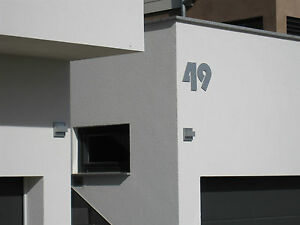 hausnummer 30 cm hoch xxl schriftart nr 10 ebay. Black Bedroom Furniture Sets. Home Design Ideas