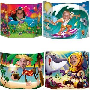 hawaii party beachparty fotowand aufsteller sommer poolparty deko hintergrund ebay. Black Bedroom Furniture Sets. Home Design Ideas