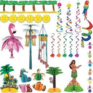 hawaii party deko tischdekortaion sommerparty beachparty strand sommer meer set ebay. Black Bedroom Furniture Sets. Home Design Ideas