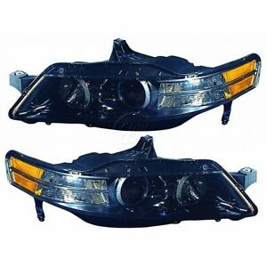 Acura Type on Headlights Headlamps Left Right Pair Set New For 07 08 Acura Tl Type S