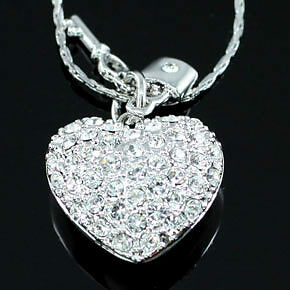 Heart Pendant Necklace use Swarovski Crystal SN208 in Jewelry & Watches, Fashion Jewelry, Necklaces & Pendants | eBay