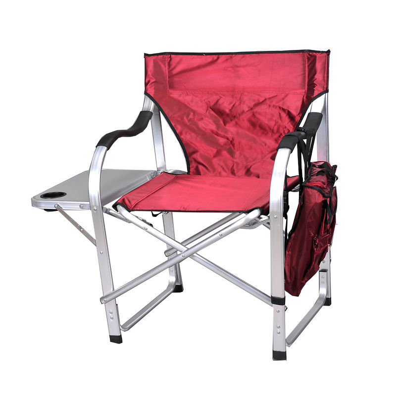 Heavy Duty Director Chair w/Cooler/Table/1206Burgundy