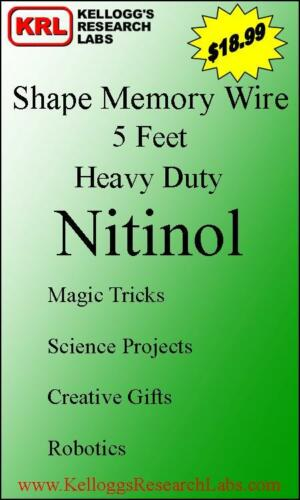 Heavy Duty Nitinol SHAPE MEMORY Wire for magic tricks, robotics 5 feet in Collectibles, Fantasy, Mythical & Magic, Magic | eBay