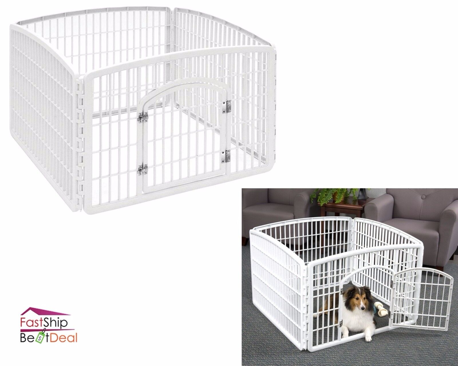 Heavy duty pet playpen plastic panel exercise dog fence